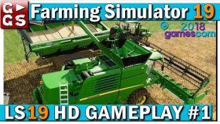 LS19 Erstes HD GAMEPLAY von der Gamescom 2018 | Teil 1